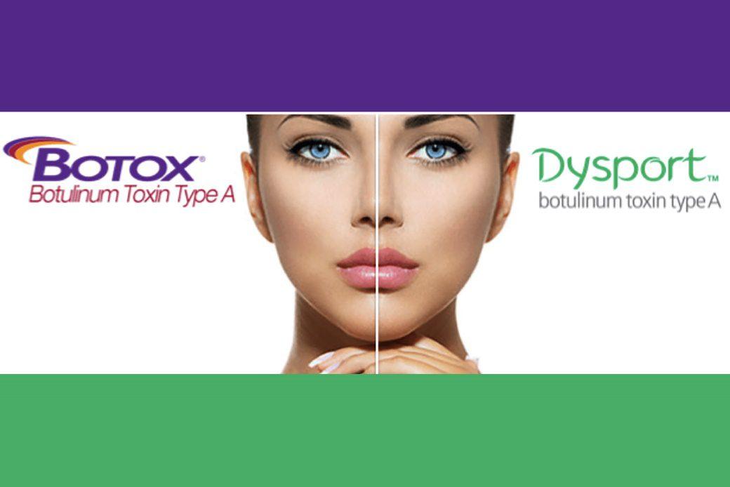 Botox Dysport split screen