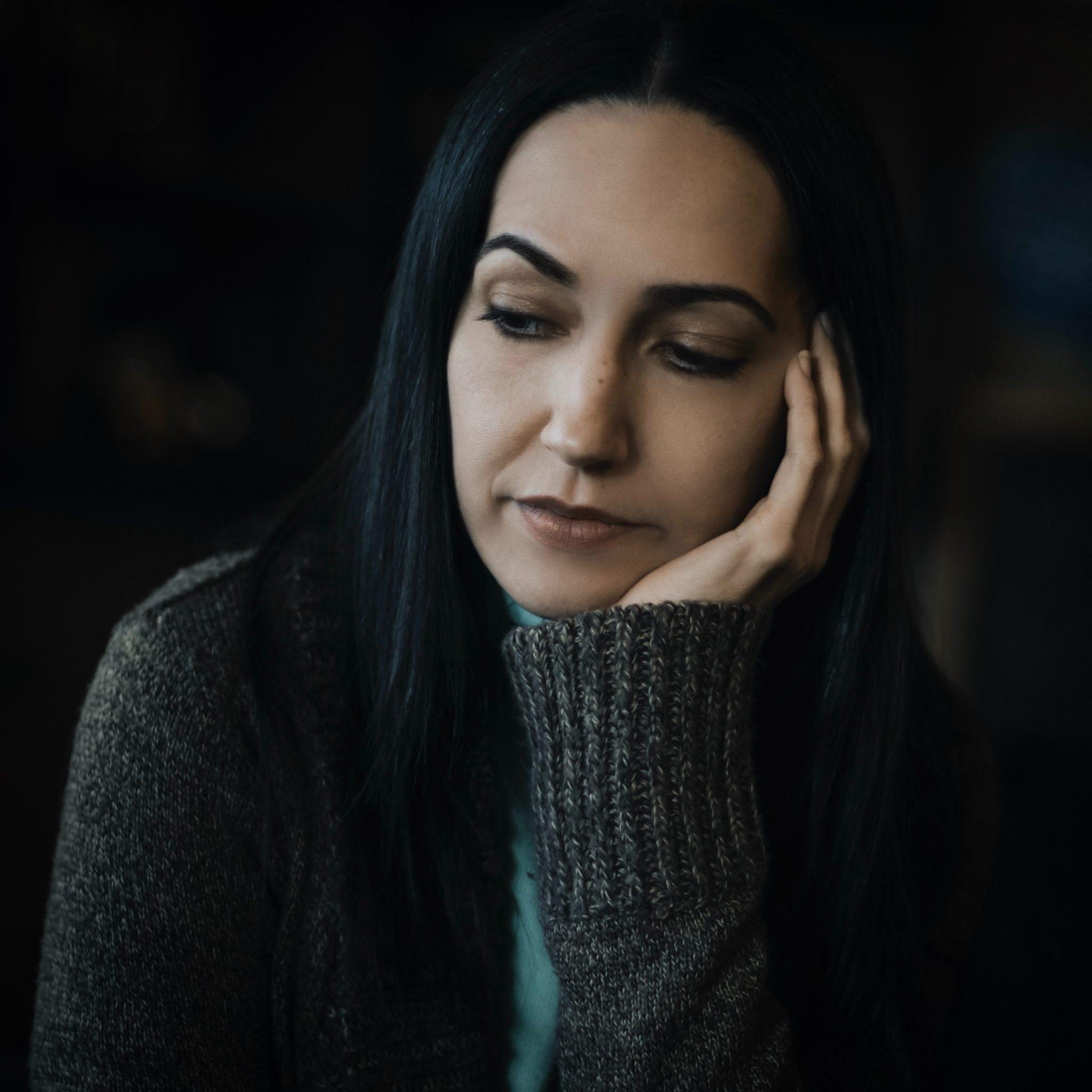 woman having mood swing due to estrogen levels