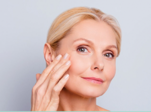 woman after getting ghk-cu peptide therapy